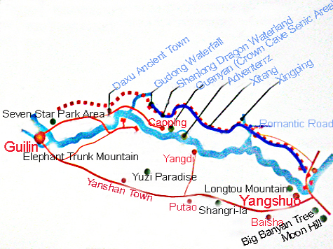 Charming Dynamic East Route of Guilin- trip to set free your soul