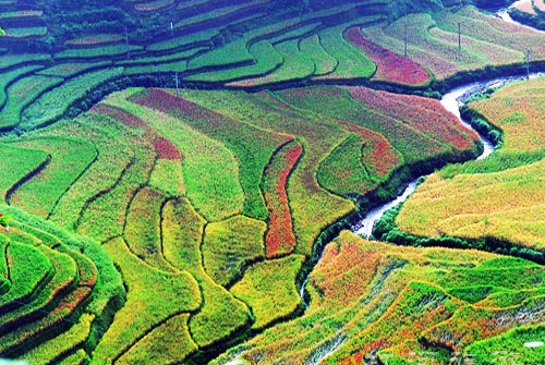 Marvelous yuanyang hani terraced fields yuanyang hani for Terrace landform
