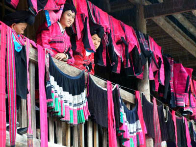 The Cloth Drying Festival of Yao People in Longsheng on Sixth June