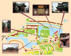 Chibi,the red cliff, Wuhan tour,Map of Chibi