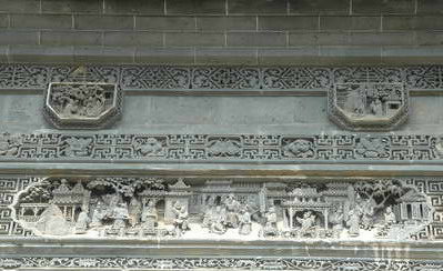 China Tours, Wuyuan Tours, Shangrao Tours, Xiaoqi Ancient Village, Tile Carving