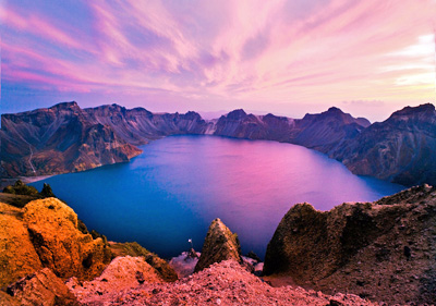 China Tours, China Travel Guide, Heavenly Pool in Changbai Mountain