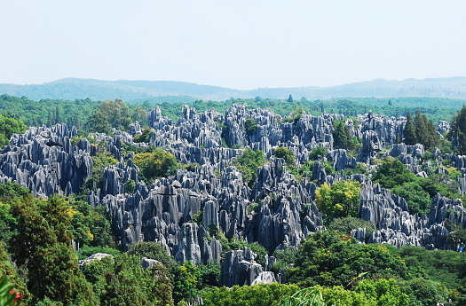 the stone forest views in Kunming,Kunming attractions,Kunming travel guide