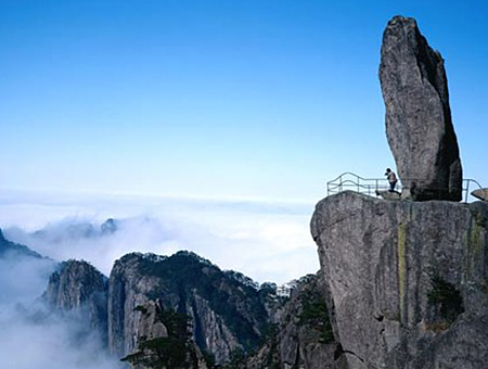 Flying Stone,Beihai Scenic Area,North Sea Scenic Area,Yellow Mountain,Huangshan Tours,China Tours