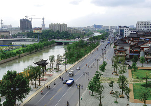 Yangzhou city view