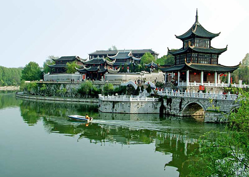 The Jiaxiu Tower is a famous attraction in Guiyang.