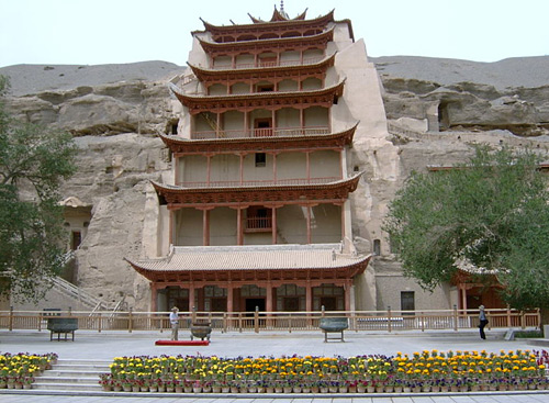 The Mogao Cave is a famous attraction on the Silk Road that has been listed as a UNESCO site.