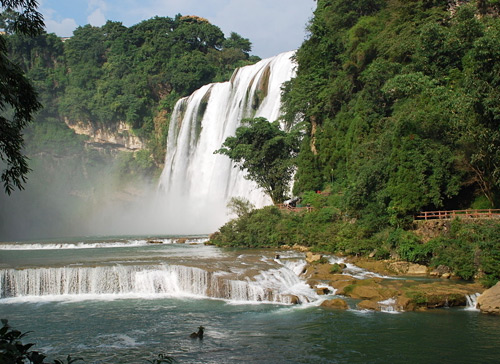 The Huangguoshu Waterfall in Anshun is a pristine one as well as the biggest waterfall in China.