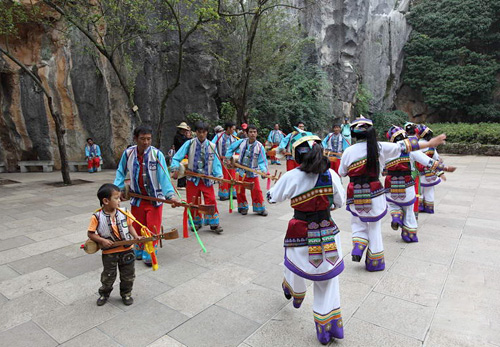 Ethnic minorities in Kunming of Yunnan Province