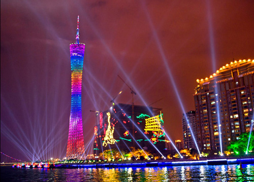 It is wonderful to take a Pearl River Cruise and enjoy the beautiful night scene of Pearl River, Guangzhou.