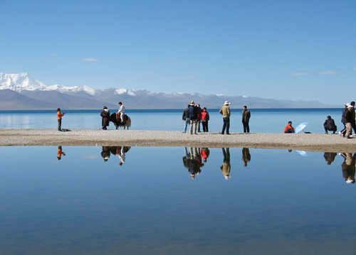 "The Namtso Lake, which is 240 km from Lhasa City, is one of the ""Three Holy Lakes"" in Tibet."