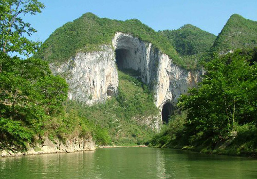 Beautiful Karst Mountains and Caves in Kaili are Impressive.