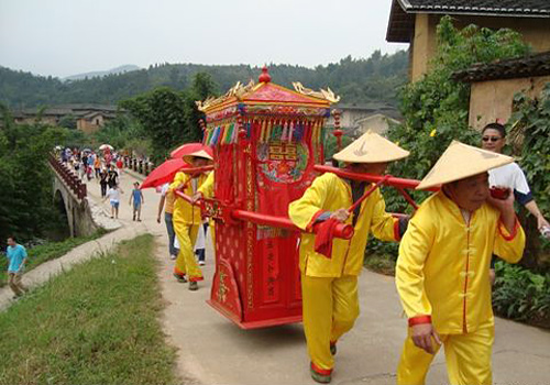 Traditional wedding ceremony in Yongding Hakka Cutural Village