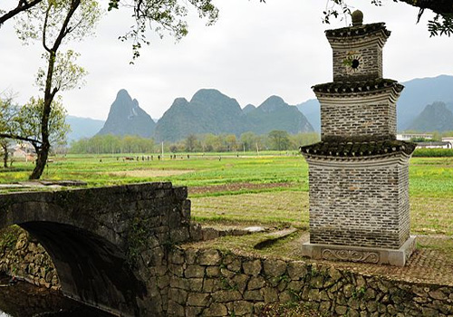 The beautiful rural scenery in Jiangtou Ancient Village