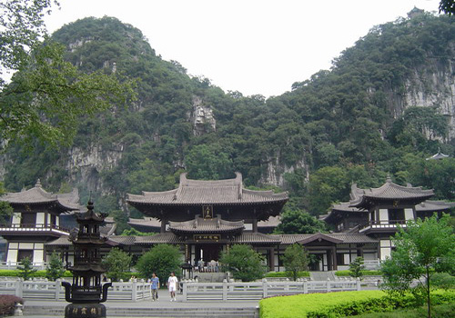 The Hall of the Celestial Kings in the Seven Star Park of Guilin is an imposing traditional style temple.