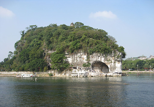 The Puxian Temple on the top of the Elephant Trunk Hill by the Li River, Guilin