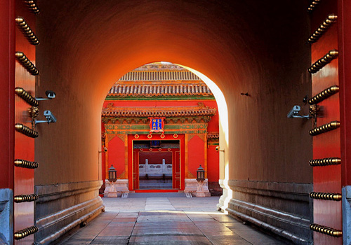 A glance at a gate of the Forbidden City