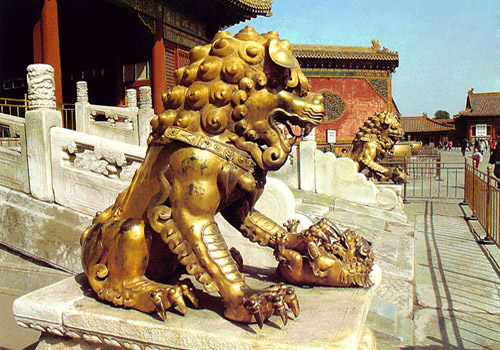 Lions have been being seen as the most august entrance guards in China.