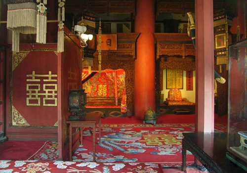 The bridal room of emperors and emperesses inside the Palace of Terrestrial Tranquility.