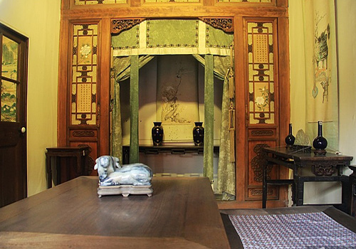 A room inside the Hall of Mental Cultivation is furnished and decorated in its original style.