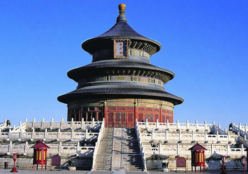 The Temple of Heaven in Beijing is the place wthere ancient Chinese emperors worshipped the Heaven.