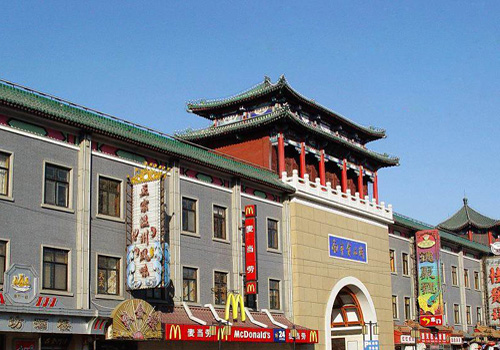 One of the four gates of Tianjin Nanshi Food Mall