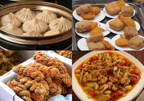 Various mouthwatering snacks can be founded in Tianjin Nanshi Food Mall.