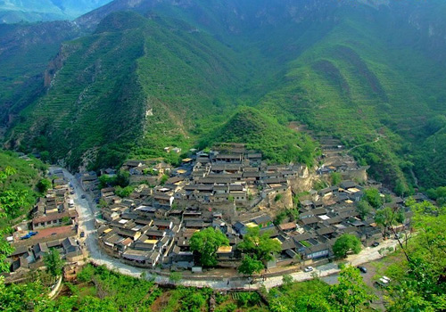 Chuandixia village is an ancient and well-preserved mountain village,Beijing