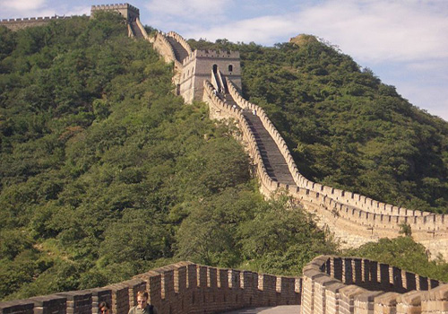 The Mutianyu Great Wall located 73 km from Beijing is one of the most famous section of the Great Wall of China.
