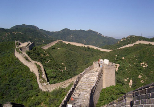 Badaling is one of the most famous sectionf of the Great Wall.