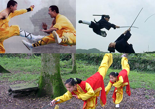 Top 3 genres of Chinese martial art, Shaolin, Wudang and Emei.