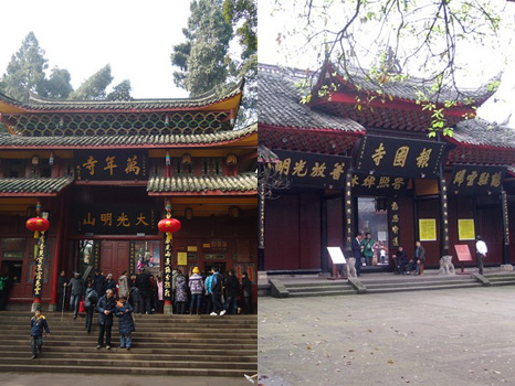 Baoguo Temple, Wannian Temple,the temples on the Mount Emei are must-see attractions.