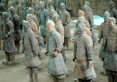 Terracotta Army and Horses is of a various and vivid artistic creation full of ingenuity,Xi'an.