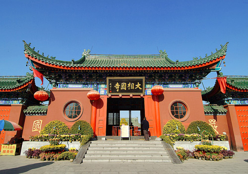 The Grand Xiangguo Monastery in Kaifeng City of Henan Province is a famous ancient Buddhist temple in China.