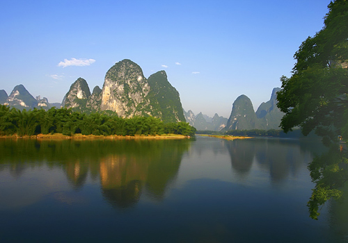 Yuanbao Hills, the real scene on the back of RMB 20, is located near the Xingping Ancient Town,Yangshuo,Guilin.
