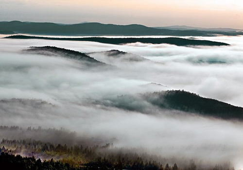 The sea of clouds can be seen sometimes inside the forest areas at Greater Khingan Mountains.