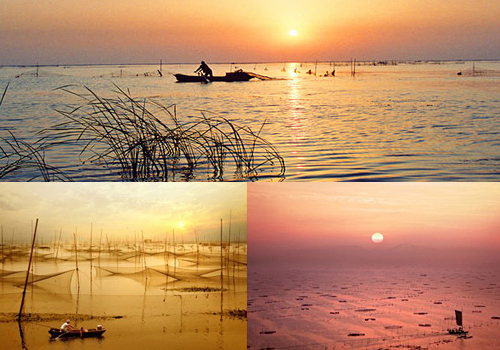Sunset and fishing life at the peaceful small county,Weishan Lake is your best choice when visiting to Qufu.