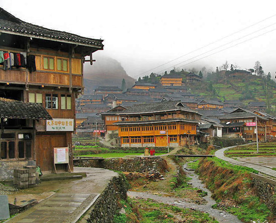 The terraces in the Dazhai Village of Yao ethnic minority are commonly considered to be second to none.