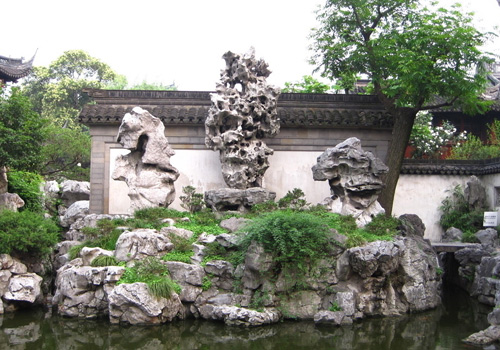 Exquisite Jade Rock in Yuyuan Garden,Shanghai
