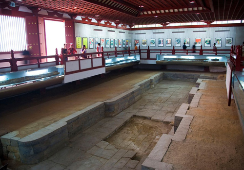 The Relic of the Imperial Hot Spring of Tang Dynasty in Xi'an, Shaanxi Province.