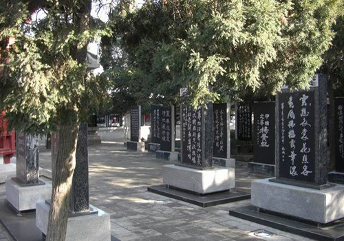 There are more than 30 famous ancient stone steles, stone inscriptions and carvings in Huaqing Hot Springs of Xi'an.