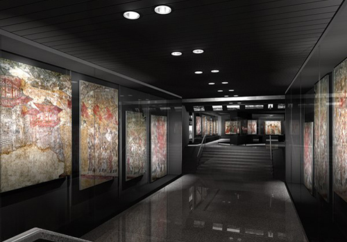 The Mural Exhibition Hall of Shaanxi History Museum in Xi'an was constructed to store the over 400 murals uncovered from 25 mausoleums of Tang Dynasty.