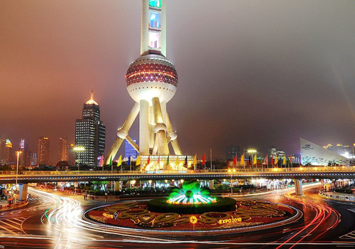 Nightscape of Oriental Pearl TV Tower,Shanghai