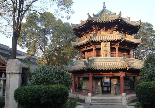 The Shengxin Pavilion located in the third courtyard of the Great Mosque in Xi'an,Shaanxi Province.