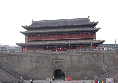 One of the gates of the Anceint City Wall in Xi'an City, Shaanxi Province.