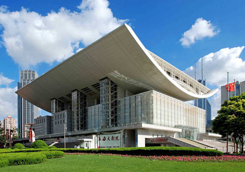 Shanghai Grand Theatre is one of the modern symbolic architectures in the city.