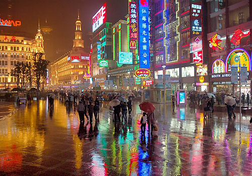 Night view in Nanjing Road,Shanghai