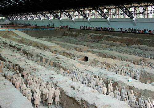 "The Terracotta Warriors and Horses of Emperor Qinshihuang is considered to be ""the eighth world wonder""."