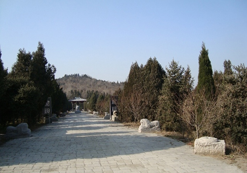 A sacred way leading to the Mount Li where the Mausoleum of Qinshihuang locates.