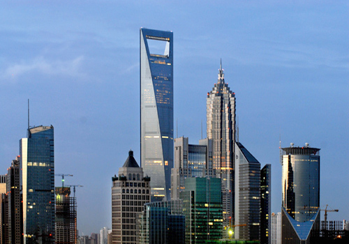 Shanghai World Financial Center is the highest in the mainland China.